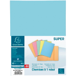 100 chemises à rabat Exacompta bleu