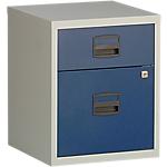 2 tiroirs dont 1 pour dossiers suspendus   Bisley   bleu