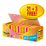 Pack avantage 24 blocs Post it COLCAB 76 (H)  x  76 (l) mm Assortiment   24