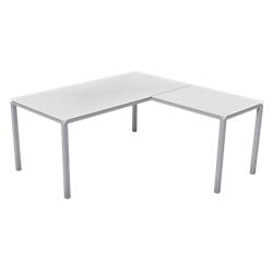 bureau avec retour droit plateau verre blanc gamme carat l160 x p160 x h72 cm par office depot. Black Bedroom Furniture Sets. Home Design Ideas