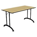 Table de réunion pliante Sodematub Mobilis Evo 140 (l) x 70 (P) x 74 (H) cm Aluminium, imitation pommier