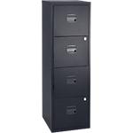 4 tiroirs pour dossiers suspendus   Bisley   noir