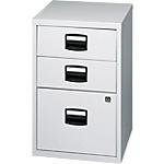 3 tiroirs dont 1 pour dossiers suspendus   Bisley   gris