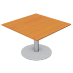 Module de table de réunion Optimal 110 (l) x 110 (P) x 72 (H) cm Aluminium, imitation poirier
