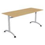 Table de réunion  160 (l) x 70 (P) x 74 (H) cm Imitation Poirier