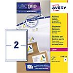 Étiquettes d'adresses 2 étiquettes par feuille Avery L7168 100 143,5 (H) x 199,6 (l) mm Blanc   100