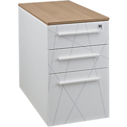 caisson hauteur bureau gautier office sunday 42 l x 80 p x 71 h cm blanc imitation chene par. Black Bedroom Furniture Sets. Home Design Ideas