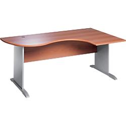bureau compact arrondi gamme murano pietement en l retour a droite l180 cm poirier par office depot. Black Bedroom Furniture Sets. Home Design Ideas