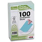 Enveloppes Élections recyclées Bleu Sans Fenêtre  9 (H) x 14 (l) cm   100
