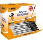 Stylo bille BIC Cristal Noir - 100 Unités