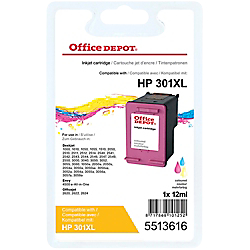 cartouche jet d encre office depot compatible hp 301xl cyan magenta jaune 5513616 par office depot. Black Bedroom Furniture Sets. Home Design Ideas