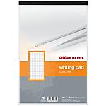 Bloc de bureau   Office DEPOT   A4+   perforé   petits carreaux   70 g