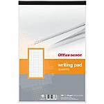 Bloc note petits carreaux   Office DEPOT   format A4   100 pages