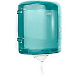 Distributeur d'essuie mains maxi Extraction centrale Tork Reflex 30cm (H) x 25cm (l) Blanc et bleu