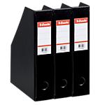 3 boîtes pliantes   Esselte   PVC   dos 70 mm   noir