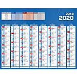 Calendrier Bouchut Grandrémy Bancaire 2017, 2018 26,5 (H) x 21 (l) cm Bleu
