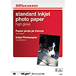 50 feuilles de papier photo   Office DEPOT   Standard   Ultra brillant   A4   145 g