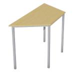 Table trapézoïdale   Niceday   120 x 60 cm   pommier et aluminium
