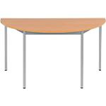 Table demi ronde   Niceday   diamètre 140 cm   pommier et aluminium