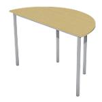 Table demi ronde   Niceday   diamètre 120 cm   pommier et aluminium