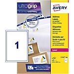 Étiquettes d'adresses 1 étiquettes par feuille Avery L7167 100 289,1 (H) x 199,6 (l) mm Blanc   100