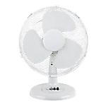 Ventilateur sur socle 30 cm   Blanc