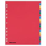 Intercalaires alphabétiques couleur Maxi A4+   Office DEPOT   20 onglets A Z