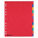 Intercalaires Office Depot A4 extra large 12 intercalaires 6 couleurs