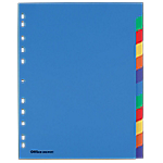 Intercalaires couleur   Office DEPOT   A4+   12 onglets