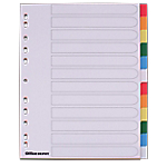 Intercalaires couleur Maxi A4+   Office DEPOT   12 onglets