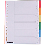 Intercalaires couleur Maxi A4+   Office DEPOT   6 onglets