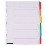 Intercalaires couleur Maxi A4+ Mylar   Office DEPOT   6 onglets