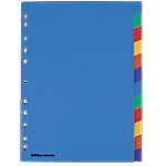 Intercalaires couleur   Office DEPOT   A4   12 onglets