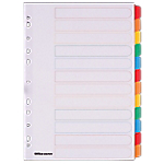 Intercalaires couleur A4 Mylar   Office DEPOT   12 onglets