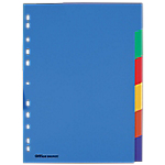 Intercalaires couleur   Office DEPOT   A4   6 onglets Polypropylène