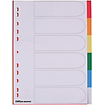 Intercalaires couleur A4   Office DEPOT   6 onglets