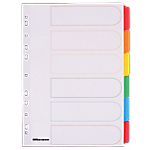 Intercalaires couleur A4 Mylar   Office DEPOT   6 onglets