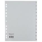 Intercalaires numériques gris Maxi A4+   Office DEPOT   1 à 12