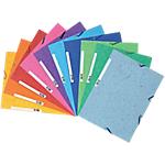 Paquet de 10 chemises assorties à élastique 3 rabats   Exacompta   Carte lustrée 5