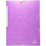 Chemise violet 3 rabats et élastiques   Exacompta   7