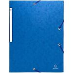 Chemise bleue 3 rabats et élastiques   Exacompta   7