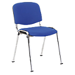 Chaise de réunion   Niceday   Chromé & Bleu