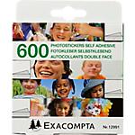 Autocollants double face pour album photo Exacompta   Blanc   600