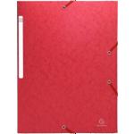 Chemise rouge à élastique 3 rabats rouge