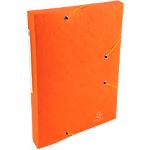 10 Chemises carte lustrée   Exacompta   3 rabats et élastiques   Orange