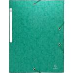 10 chemises carte lustrée à élastique 3 rabats Exacompta vert