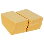 12 blocs de notes repositionnables   Office DEPOT   76 x 127 mm   jaune   FSC