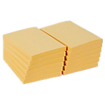 12 blocs de notes repositionnables   Office DEPOT   76 x 102 mm   jaune   FSC