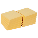 12 blocs de notes repositionnables   Office DEPOT   76 x 76 mm   jaune   FSC