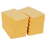 12 blocs de notes repositionnables   Office DEPOT   76 x 51 mm   jaune   FSC